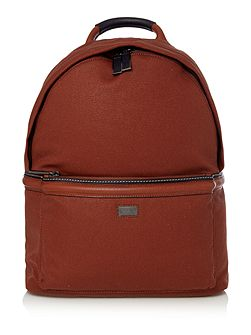 Brandor canvas and leather backpack