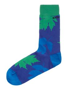 Leaf me alone ankle sock