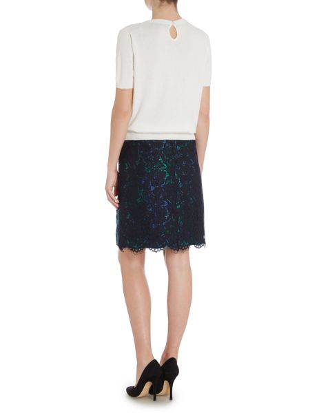 Dickins & Jones Jacquard and Lace Pencil Skirt
