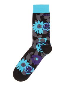 Plants print ankle sock