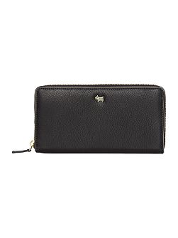 Blair large black zip around purse