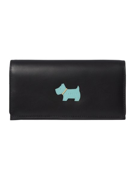 Radley Heritage dog black large flap over purse