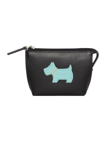Radley Heritage dog black small coin purse