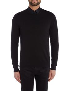 Kenneth Cole Connor Airtex detail crew neck Jumper
