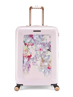 Hanging gardens 8 wheel hard medium suitcase