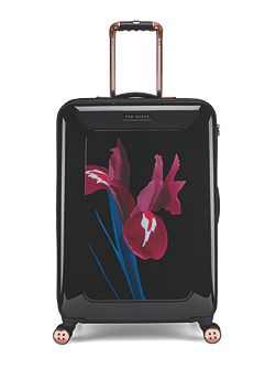 Stencilled stem 8 wheel hard medium suitcase