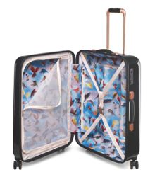Ted Baker Stencilled stem 8 wheel hard medium suitcase