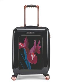 Stencilled stem 8 wheel hard cabin suitcase