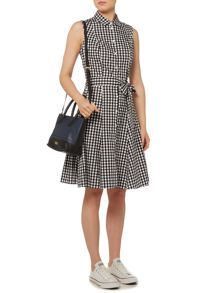 Dickins & Jones Gingham Shirt Dress with Waist Tie