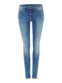 Mid rise skinny jean in blue river stretch