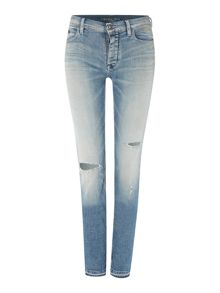 Calvin Klein Slim boyfriend jean in sun stained destroyed