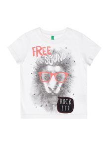 Boys Lion graphic tee