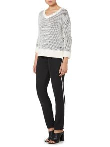 Calvin Klein Long sleeve cajun v neck sweater