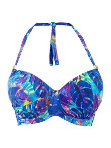 Biba Midnight Rainforest Plunge Bikini Top