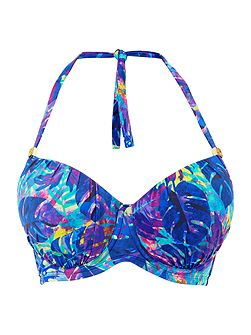 Midnight Rainforest Plunge Bikini Top
