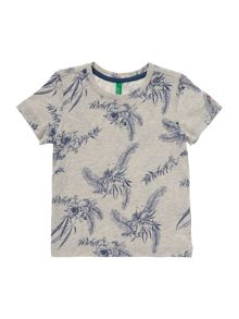 Benetton Boys Leaf print tee