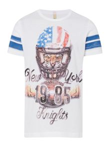 Benetton Boys American football tee