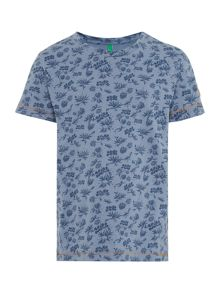 Benetton Boys Tropical print tee