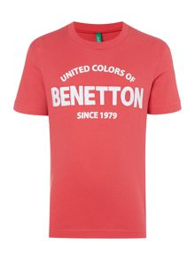 Boys Benetton logo tee