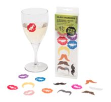 Cellardine Glass markers lips and moustaches