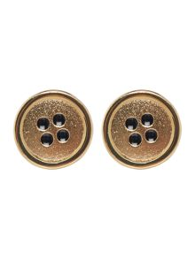 Mini button gold cufflinks
