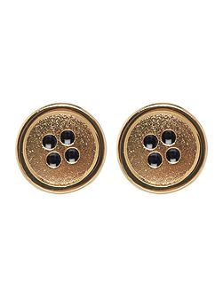 Paul Smith London Mini button gold cufflinks