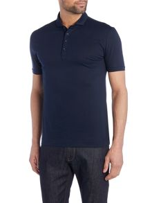 Kenneth Cole Maxim Jersey Polo With Turn Up Sleeve