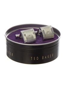 Ted Baker Duel brushed and shiny cufflink