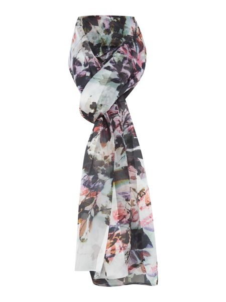 Linea Floral Printed Stripe Scarf