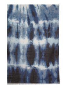 Label Lab Blurred Tie Dye Print Scarf