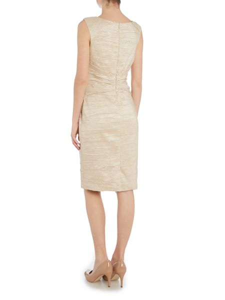 Eliza J Beaded shoulder dress with knot front detail