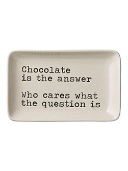 Josephine Chocolate Is The Answer Plate