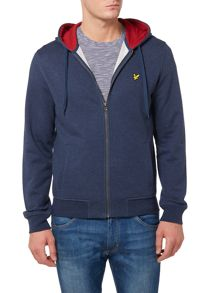 Lyle and Scott Pique Lined Zip-Through Hoodie