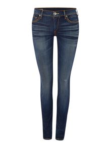 True Religion Casey skinny super t jean in clean inky blues