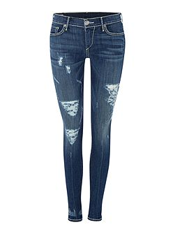 Casey skinny super t jean in eletric blue