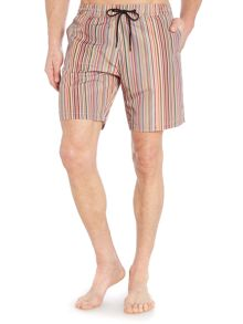 Multistripe long length swim shorts