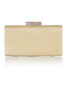 Lipsy Neutral lurex clutch bag