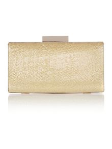 Neutral lurex clutch bag