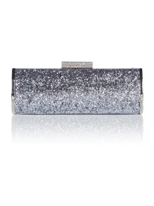 Lipsy Grey glitter clutch bag