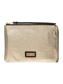 Lipsy Black and gold reversible clutch bag