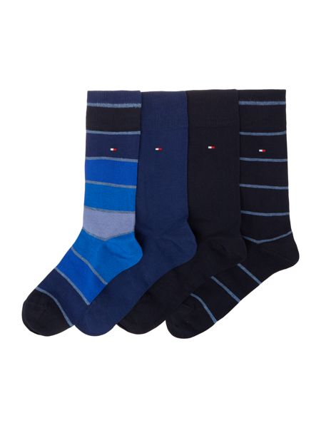Tommy Hilfiger 4 pack of stripe and solid socks