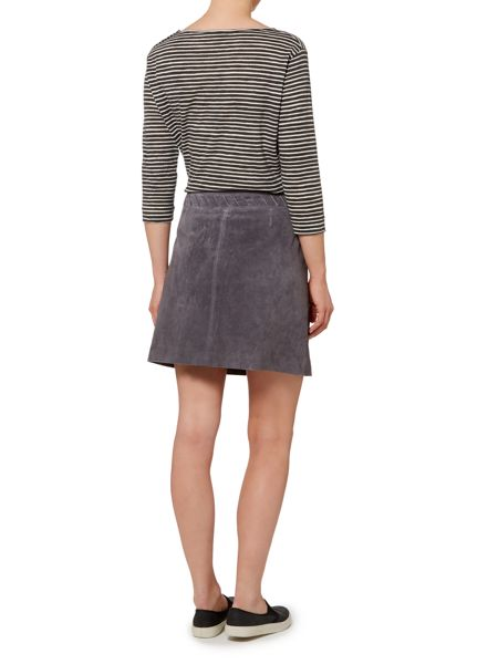 Linea Weekend Whipstitch suede skirt