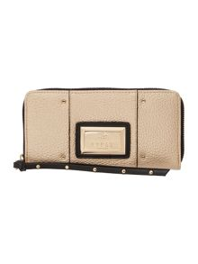 Lipsy Gold large ziparound purse