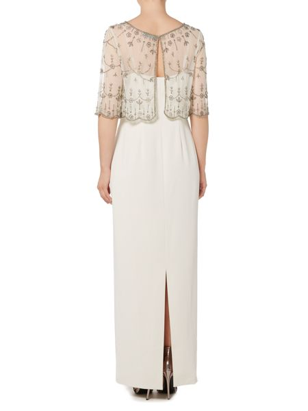 Shubette Column gown with beaded cape