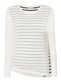 Dakota asymmetric knit jumper