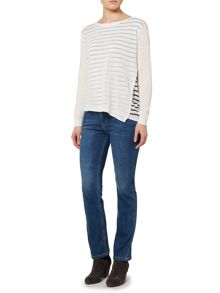 Linea Weekend Dakota asymmetric knit jumper