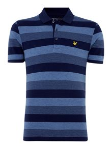 Lyle and Scott Winter Stripe Pique Short Sleeve Polo