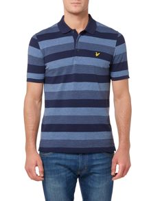 Winter Stripe Pique Short Sleeve Polo