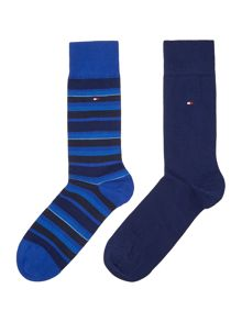 Tommy Hilfiger 2 pack of variation stripe socks