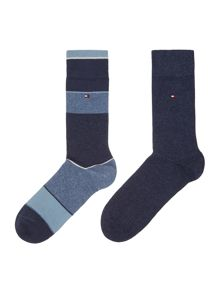 Tommy Hilfiger 2 pack of block art socks